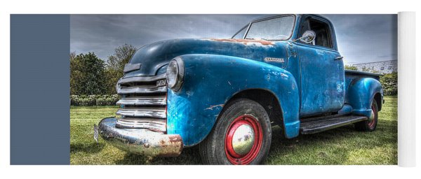 Colorful Workhorse - 1953 Chevy Truck Yoga Mat