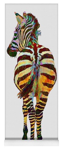 Colorful Zebra Yoga Mat
