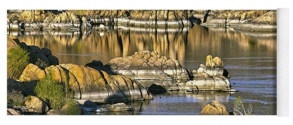Colors In The Rocks At Watsons Lake Arizona Yoga Mat