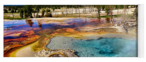 Colors Of Yellowstone National Park Yoga Mat
