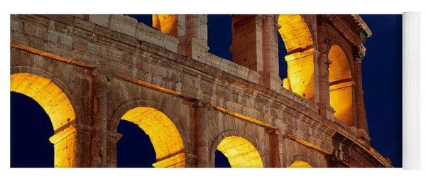 Colosseum And Moon Yoga Mat