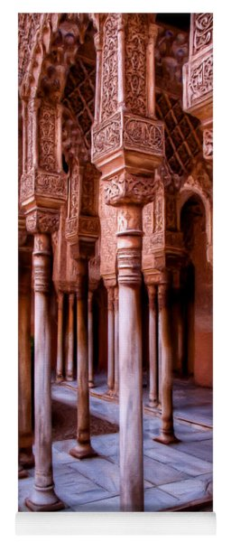 Columns Of The Court Of The Lions - Painting Yoga Mat
