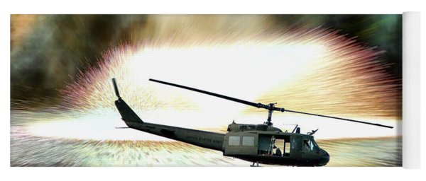 Combat Helicopter Yoga Mat