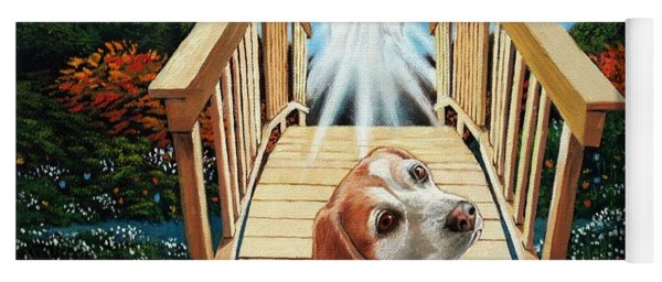 Come Walk With Me Over The Rainbow Bridge Yoga Mat