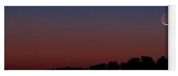 Comet Panstarrs And Crescent Moon Yoga Mat