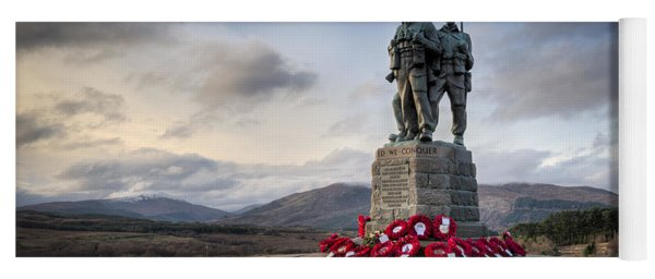 Commando Memorial At Spean Bridge Yoga Mat