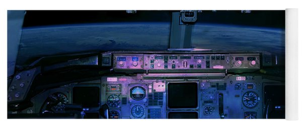 Commercial Airplane Cockpit By Night Yoga Mat