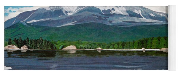 Common Loon On Togue Pond By Mount Katahdin Yoga Mat