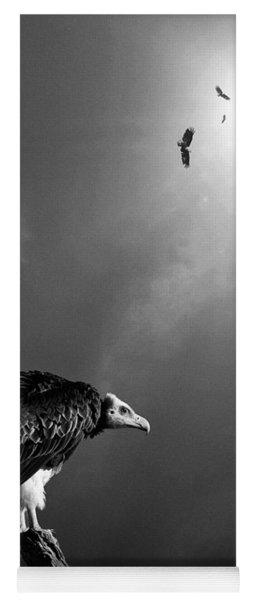 Conceptual - Vultures Awaiting Yoga Mat