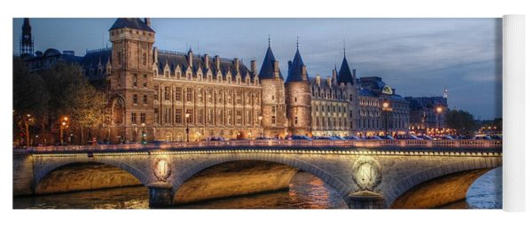 Conciergerie And Pont Napoleon At Twilight Yoga Mat