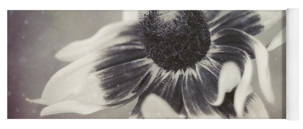 Coneflower In Monochrome Yoga Mat