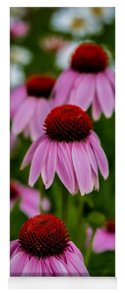 Coneflowers In Front Of Daisies Yoga Mat