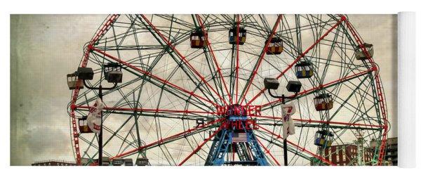 Coney Island Wonder Wheel  Yoga Mat