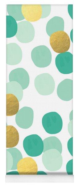 Confetti 2- Abstract Art Yoga Mat