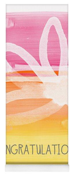 Congratulations- Greeting Card Yoga Mat