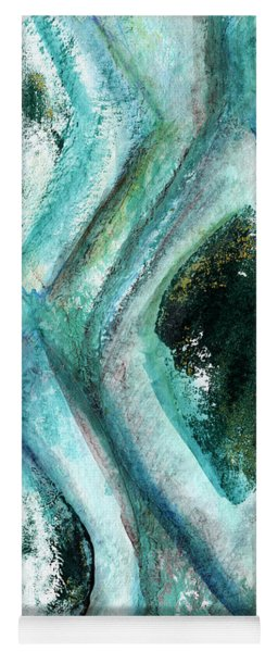 Contemporary Abstract- Teal Drops Yoga Mat