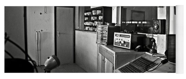 Control Room In Alcatraz Prison Yoga Mat