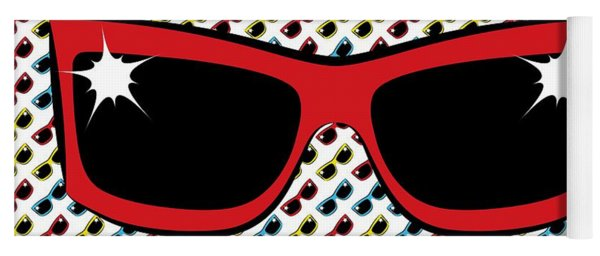 Cool 90's Sunglasses Red Yoga Mat