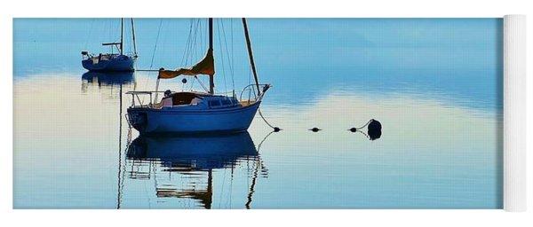 Cool Blue Tahoe Sail Yoga Mat