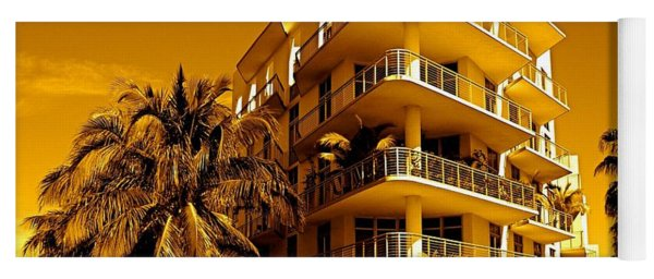 Cool Iron Building In Miami Yoga Mat