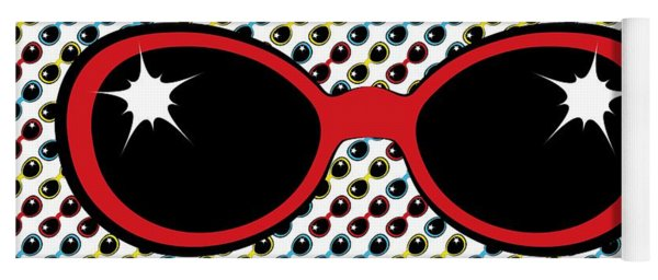 Cool Retro Red Sunglasses Yoga Mat