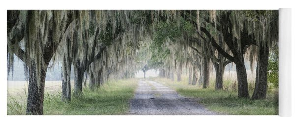 Coosaw Fog Avenue Of Oaks Yoga Mat