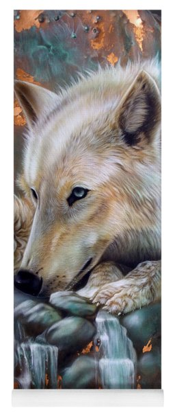 Copper Arctic Wolf Yoga Mat
