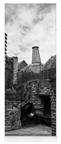 Copper Pot Stills And Column Still At Lockes Distillery Bw Yoga Mat