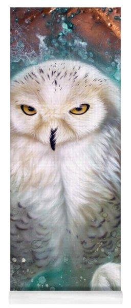 Copper Snowy Owl Yoga Mat