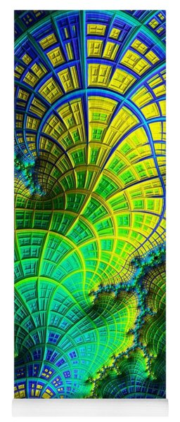 Yoga Mat featuring the digital art Coral Electric by Susan Maxwell Schmidt