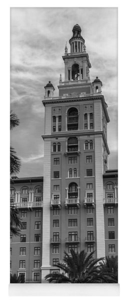Coral Gables Biltmore Hotel In Black And White Yoga Mat