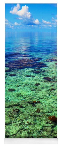 Coral Reef Near The Island At Peaceful Day. Maldives Yoga Mat