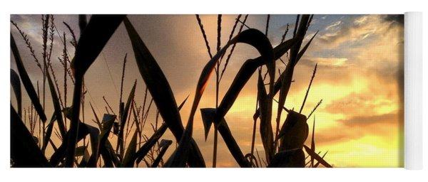 Cornfield Sundown Yoga Mat