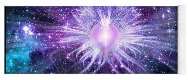Cosmic Heart Of The Universe Yoga Mat