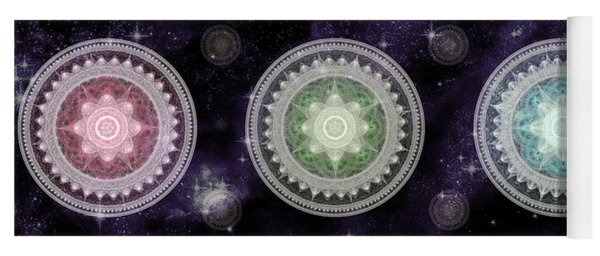 Cosmic Medallians Rgb 2 Yoga Mat