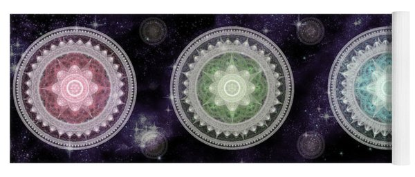 Cosmic Medallians Rgb 2 Yoga Mat