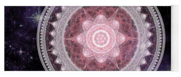 Cosmic Medallions Fire Yoga Mat