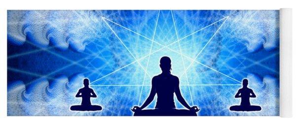 Yoga Mat featuring the digital art Cosmic Spiral Ascension 22 by Derek Gedney