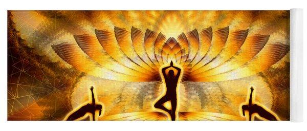 Yoga Mat featuring the digital art Cosmic Spiral Ascension 23 by Derek Gedney