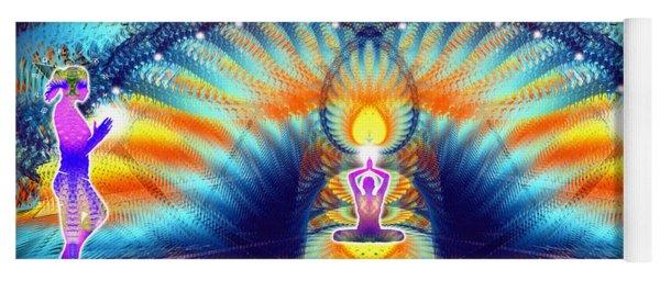 Yoga Mat featuring the digital art Cosmic Spiral Ascension 38 by Derek Gedney