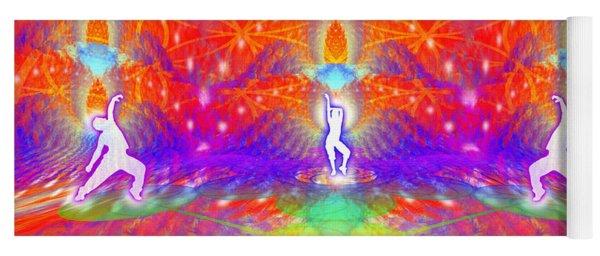 Yoga Mat featuring the digital art Cosmic Spiral Ascension 53 by Derek Gedney