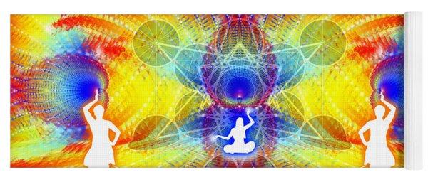 Yoga Mat featuring the digital art Cosmic Spiral Ascension 56 by Derek Gedney