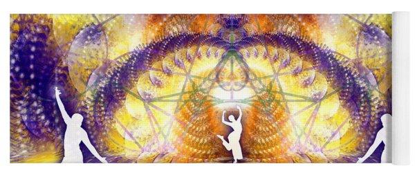 Yoga Mat featuring the digital art Cosmic Spiral Ascension 58 by Derek Gedney