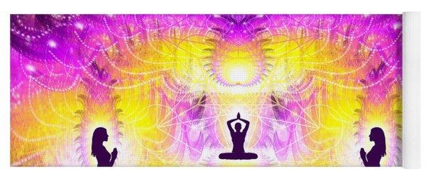 Yoga Mat featuring the digital art Cosmic Spiral Ascension 59 by Derek Gedney