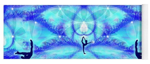 Yoga Mat featuring the digital art Cosmic Spiral Ascension 65 by Derek Gedney