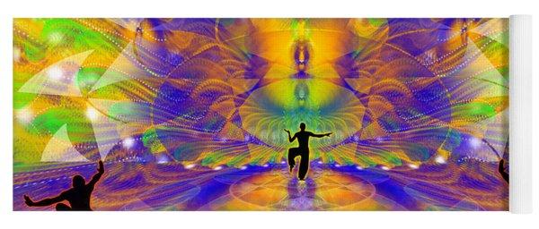 Yoga Mat featuring the digital art Cosmic Spiral Ascension 73 by Derek Gedney