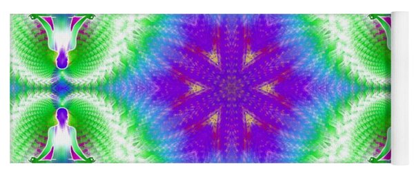 Cosmic Spiral Kaleidoscope 10 Yoga Mat
