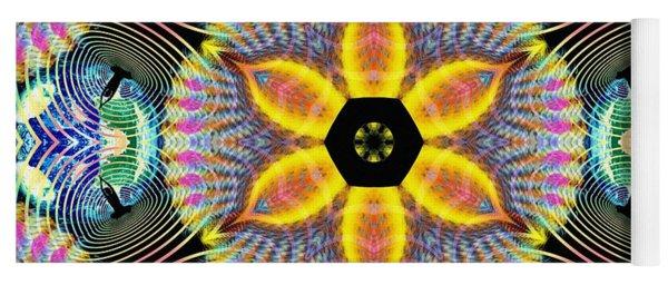 Cosmic Spiral Kaleidoscope 13 Yoga Mat