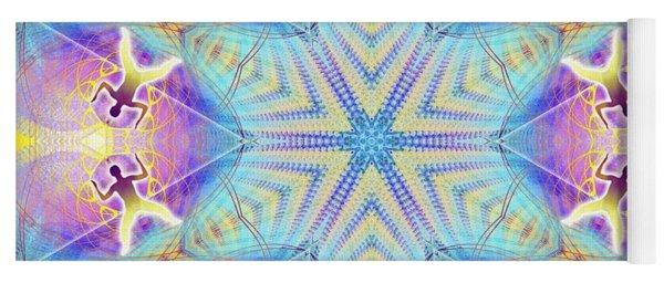 Cosmic Spiral Kaleidoscope 17 Yoga Mat