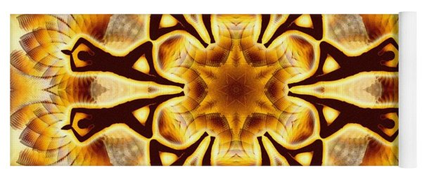 Yoga Mat featuring the digital art Cosmic Spiral Kaleidoscope 20 by Derek Gedney